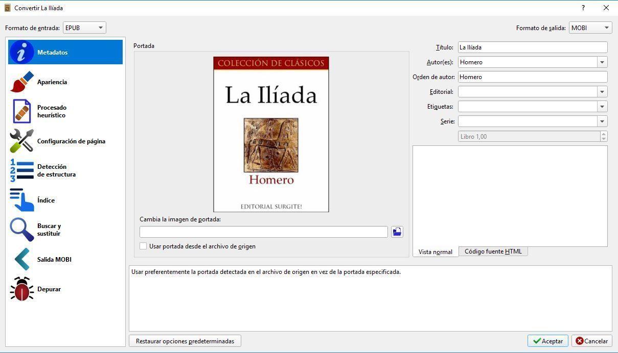 convertir formtao ebook
