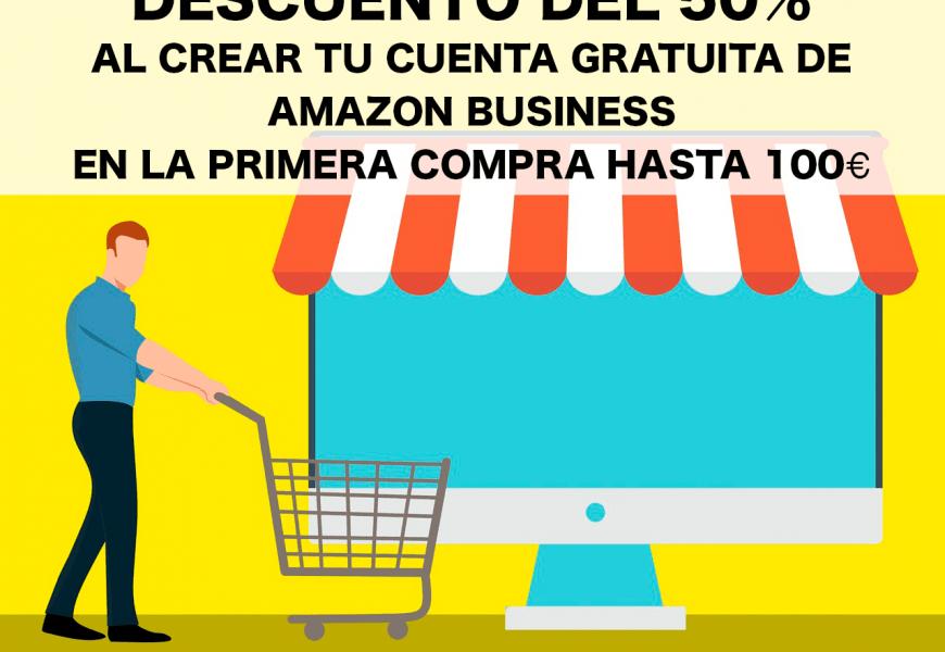 Descuento del 50% en la primera compra de hasta 100€ en Amazon Business
